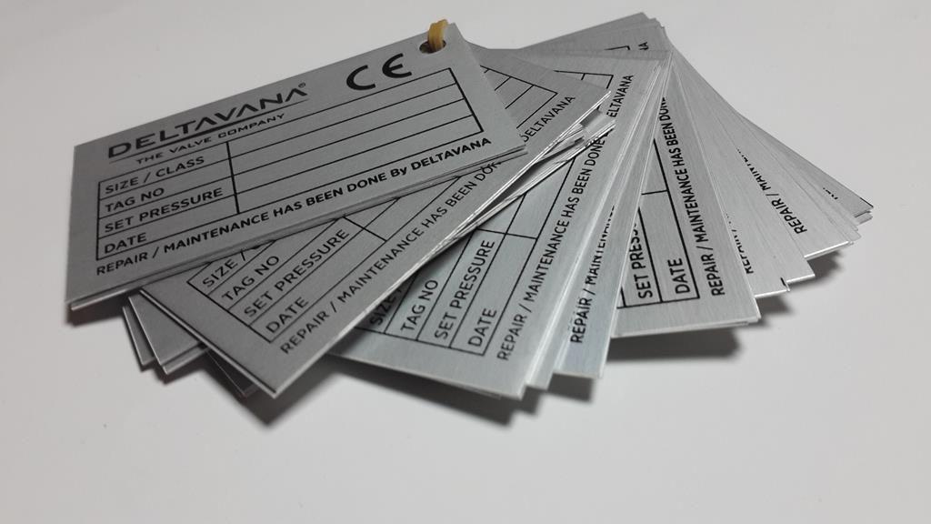 Makine Tanıtım Alümiyum Metal Etiket
