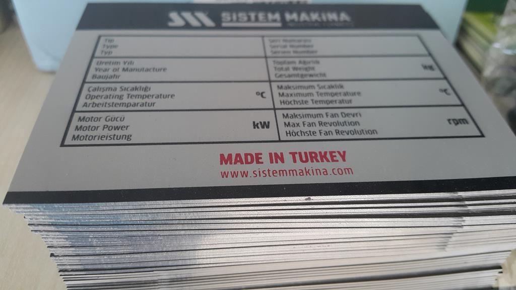 Yüksek Mikron Alüminyum Etiket