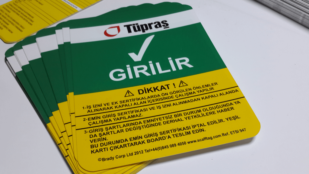 Tüpraş Uyarı PVC Etiket