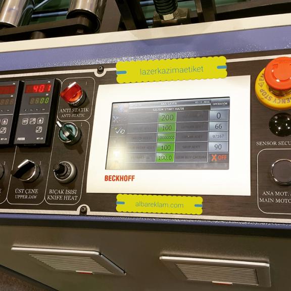 Lazer Kazıma Kontrol Panel Etiket